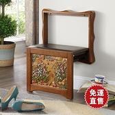 換鞋凳實木家用穿鞋凳壁掛式掛牆壁凳門口玄關可伸縮隱形椅 【快速出貨】