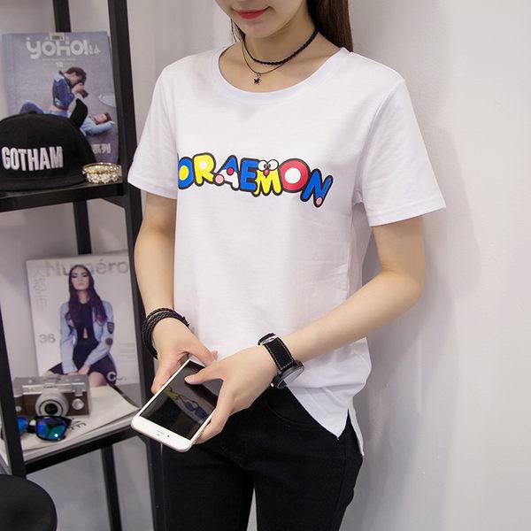 *魔法之城*F14601夏寬鬆韓版印花學生短袖薄上衣T