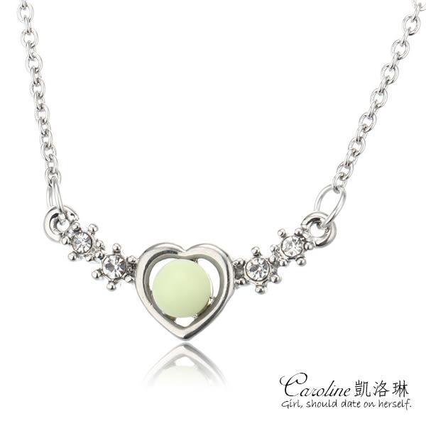 《Caroline》★【愛珠】高雅大方設計配飾流行時尚夜光項鍊68195