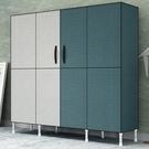 簡易衣櫃布衣櫃鋼管加粗加固雙人家用現代簡約收納布藝柜子掛衣櫥 酷男精品館