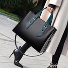 2020新款女包韓版時尚公文包青年大容量撞色手提側背包斜背包 黛尼時尚精品
