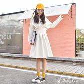 女裝秋季長袖收腰洋裝韓版chic荷葉邊初戀裙子 igo 港仔會社