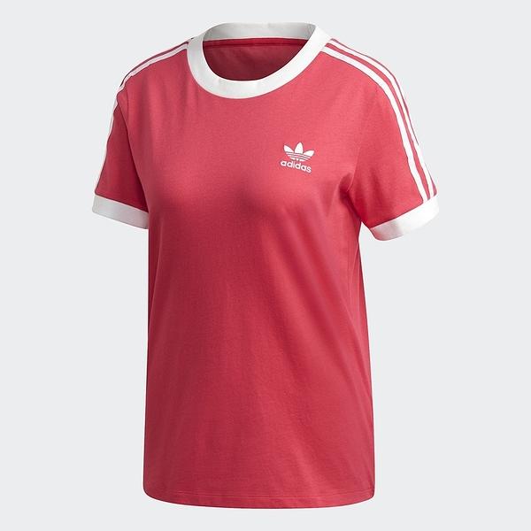 ADIDAS 短袖 T恤 ORIGINALS 3-STRIPES 短袖 粉 上衣 女(布魯克林) GD2440