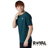 New Balance Essentials 綠色 刺繡LOGO 純棉 T恤 男女款 NO.H3649【新竹皇家 MT11592 TKK】