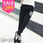 韓版新款寬鬆休閒星星印花運動哈倫褲 O-Ker NI5106-C
