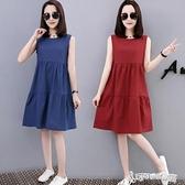 棉麻洋裝-棉麻洋裝女中長款2020夏裝新款韓版純色無袖寬鬆顯瘦純棉打底衫 Cocoa