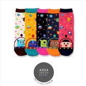 韓國品牌襪子 飛碟卡通人物星球圖案中筒襪❤️短襪長襪絲襪隱形襪 復古