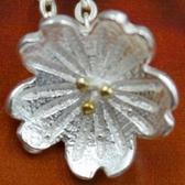 925純銀項鍊-五瓣花造型簡約時尚流行銀飾女墜飾73y53【巴黎精品】
