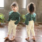 女童花苞腰休閒褲秋裝新款兒童韓版洋氣長褲3-7歲寶寶褲子潮5 至簡元素