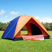 野外手動搭建雙人帳篷戶外家庭2人自駕游露營野營 DN11937【旅行者】TW