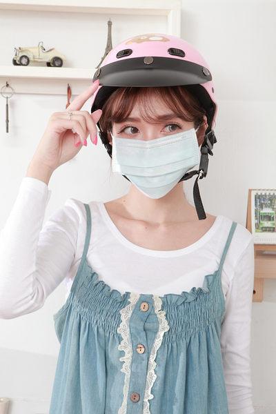 【雨晴牌-抗UV三層不織布口罩】(單片裝) @成人-藍色@舒適透氣 抗UV達74% 特製耳帶久戴不痛