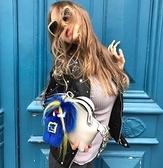 ■現貨在台■專櫃55折■Fendi 全新真品 Fendirumi 吉祥物 Piro-chan貂毛吊墜吊飾 藍