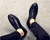 英倫社會小皮鞋男鞋男士休閒皮鞋男男生鞋子