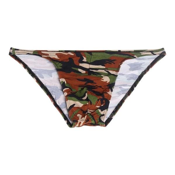 特賣 新款時尚潮流迷彩高彈性薄款吸汗透氣健美鍛煉莫代爾男士三角褲