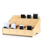 手機收納盒桌面多格管理創意屏幕存放盒放置維修配件教室收納架子 Ic461『男人範』