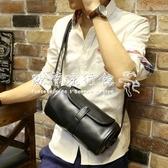 斜背包胸包斜背包IPAD單肩包復古PU韓大容量圓筒包腰包多功能 歐韓流行館