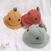 大眼睛恐龍燈心絨漁夫帽 童帽 帽子 遮陽帽