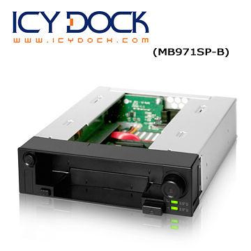"""[富廉網] ICY DOCK MB971SP-B 2.5""""+3.5"""" 熱插拔 雙重硬碟抽取盒"""