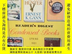 二手書博民逛書店Reade罕見Digest Condensed Books 19