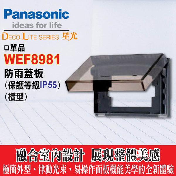 Panasonic 國際牌 防雨蓋板 WEF8981 (橫式 透明) (保護等級IP55)