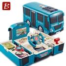 寶樂星 聲光智能變形巴士 5811(附電池)/一台入(促1350) 模擬駕駛 慣性巴士 益智玩具-生