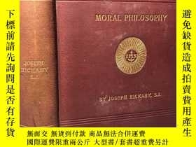 二手書博民逛書店1888年罕見MORAL PHILOSOPHY OR ETICS AND NATURAL LAW 飾金封面 夾有幾