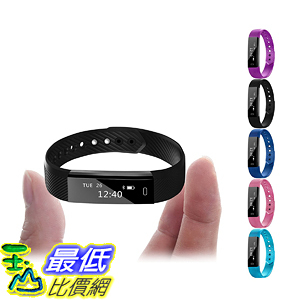[106美國直購] Fitness 智能手環 Tracker, Gajozon Smart Bracelet Point Touch Bluetooth Call Remind For Android iOS
