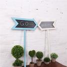 複古做舊鄉村風格實木箭頭小黑板 花園會所方向指示牌指引牌 路標 快速出貨