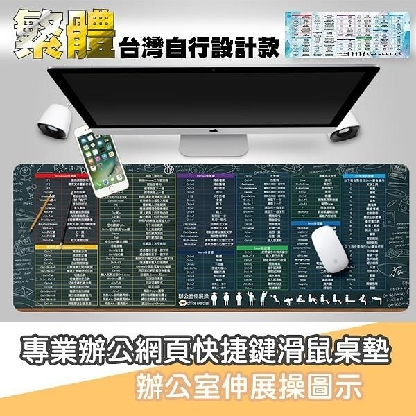 【南紡購物中心】【藻土屋】設計款繁體快捷滑鼠桌墊-兩色可選
