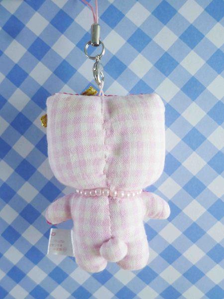 【震撼精品百貨】Hello Kitty 凱蒂貓~KITTY手機吊飾-絨毛格子