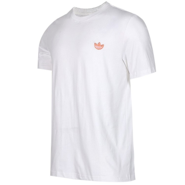 ADIDAS ORIGINALS WAPPEN SS TEE 白 橘 小logo 棉 短T 男(布魯克林) FK9982