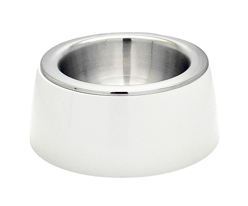 MIT精選《SUGARU》高品質寵物碗 [風雅白] 304不銹鋼 狗碗 柴犬/柯基/米克斯