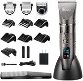 【日本代購-現貨】HATTEKER電動理髮器理髮器理髮器無線用於理髮充電式可水洗LED理髮器