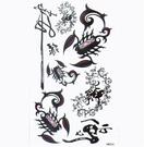 薇嘉雅  蠍子 文字 紋身貼紙 HM304