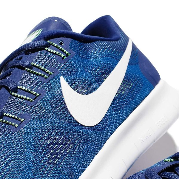 【六折特賣】Nike 慢跑鞋 Free RN 2017 藍 白 赤足 切割大底 輕量透氣 男鞋 【PUMP306】 880839-401