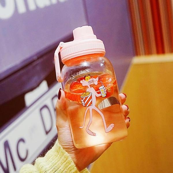水杯吸管水杯女玻璃杯學生創意清新可愛便攜夏天個性潮流網紅杯交換禮物