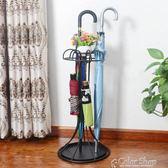雨傘瀝乾收納架歐式雨傘架公司家用鐵藝傘筒雨傘桶收納桶落地式放雨傘架color shopYYP