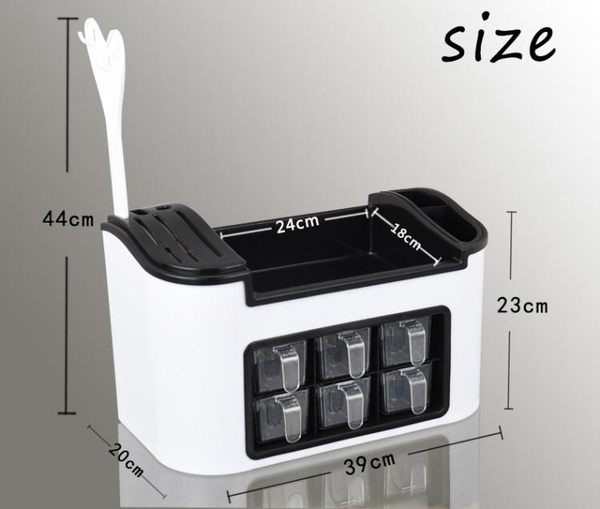 調料盒套裝調味盒味精調料架調味品盒佐料放鹽罐刀架家用廚房用品