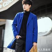 中大尺碼毛呢外套 秋冬新款男士韓版修身風衣外套多色 DR4149【男人與流行】