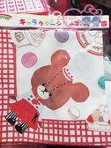 ♥小花花日本精品♥上學熊甜點馬卡龍蛋糕圖案萬用巾手巾手帕 外出清潔方便99102500