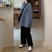 秋冬季學生百搭網紅牛仔女寬鬆韓版bf工裝上衣 - 風尚3C