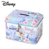 【日本正版】史迪奇 鐵盒 存錢筒 小費盒 收納盒 附鑰匙 可上鎖 Stitch 迪士尼 Disney - 063222