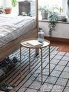 茶几 現代北歐鐵藝小臥室床頭圓桌子現代迷你角幾簡約沙發邊幾陽台 【全館免運】