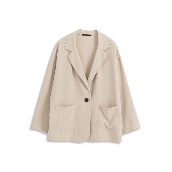 Queen Shop【02030325】單釦造型雪紡西裝外套 三色售*現+預*