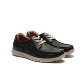 Waltz-經典款休閒牛皮帆船鞋622145-02黑