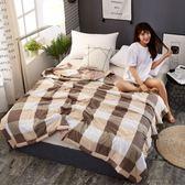 日式水洗棉夏被空調被夏涼被可水洗簡約條紋單雙人夏天薄被子 全館免運