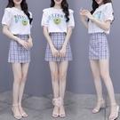 半身裙套裝女夏裝年新款學院風洋氣時尚小個子穿搭裙子兩件套NA32-A 依品國際