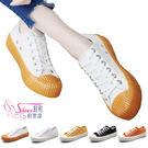 餅乾鞋.韓系餅乾鞋工業風輪胎紋厚底帆布鞋...