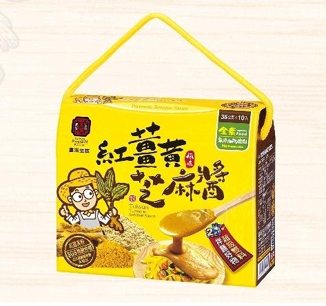 4盒特惠 豐滿生技 紅薑黃芝麻醬 35gx10包/盒