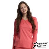 Polarstar 女遠紅外線V領保暖衣『粉紅』排汗│透氣│保暖│抗靜電 P16228